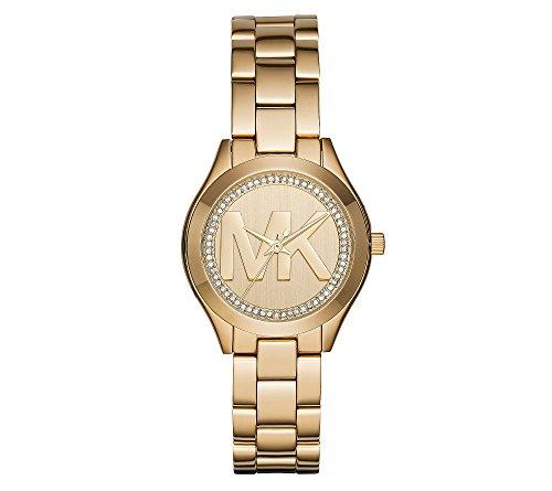 Michael Kors Women's Mini Slim Runway Goldtone Three-Hand Watch