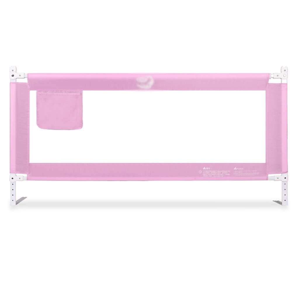 アンチフォールスフェンス、赤ちゃん昇降バッフル子供の部屋のベッドルーム垂直昇降多機能調節可能な保護フェンス、1.5から2メートル (色 : Pink, サイズ さいず : 180 * 88CM) B07JL5FHPB Pink 180*88CM