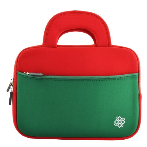 "Kozmicc 10.1"" Inch Tablet Sleeve Case Bag (Red/Green) w/ ..."