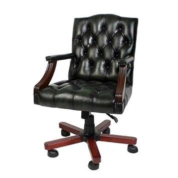 luxury leather office chair dark green swivel chair desk chair