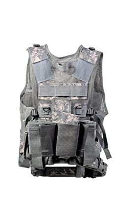 Ultimate Tactical Acu Paintball Vest - 8 Pod Pouches Army Digital