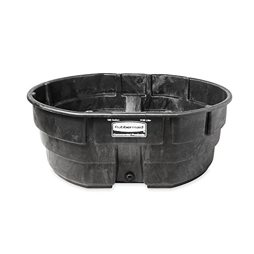 (Rubbermaid Commercial Products FG424700BLA Stock Tank, Structural Foam, 300 gal, Black)