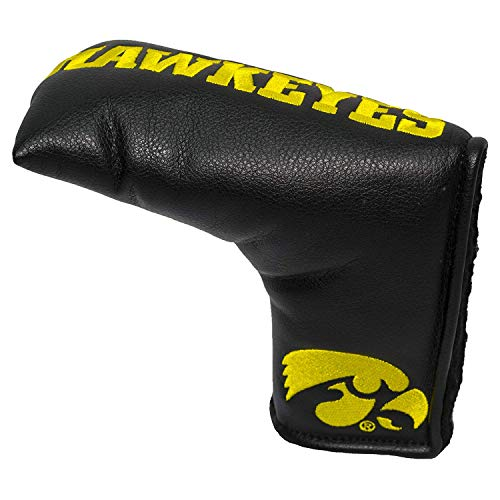 Team Golf NCAA Iowa Hawkeyes Golf Club Vintage Blade Putter Headcover, Form Fitting Design, Fits Scotty Cameron, Taylormade, Odyssey, Titleist, Ping, ()