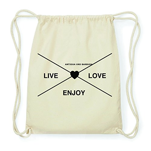 JOllify ANTIGUA UND BARBUDA Hipster Turnbeutel Tasche Rucksack aus Baumwolle - Farbe: natur Design: Hipster Kreuz 4A05iD3xpQ