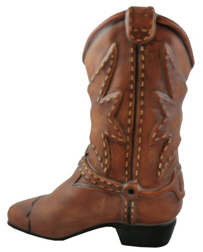 Accents & Occasions Ceramic Cowboy Boot Planter or Flower Arrangement Vase, (Cowboy Boot Vase)