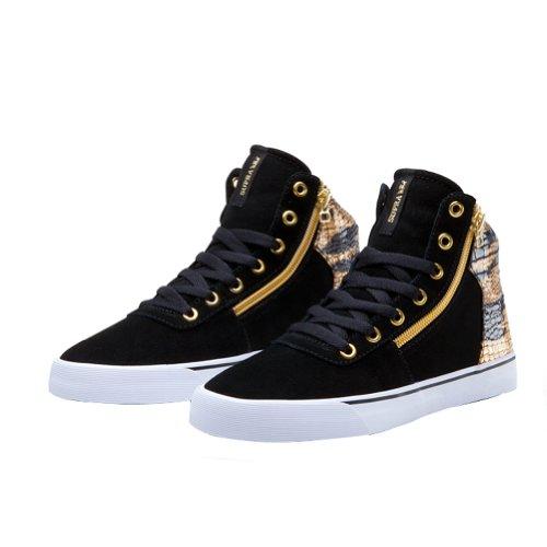 Noir black Sneaker white Supra Donna Bkg gold UzFwwx6