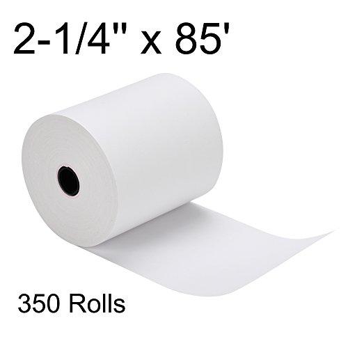 350 Rolls 2-1/4'' x 85' POS Cash Register Roll Thermal Receipt Paper by BESTEASY
