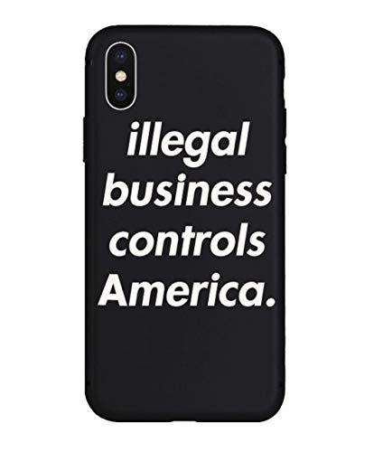 Illegal Business Controls America IBCA iPhone Case | Hype, Streetwear, Designer, Skateboard, Stylish | Scratch and Drop Protection | for iPhone 7/8, 7 Plus/8 Plus, X, XR, Xs Max (iPhone X)