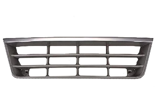 Van Ford E-350 95 (Ford Van 92-96 Front Grille Grill Car Chrome/Gray)