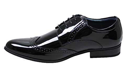 nero uomo vernice class cerimonia man's linea shoes Scarpe francesine classica eleganti wxI75qn4t