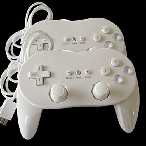 2x-new-pro-classic-joypad-wired-game-controller-remote-for-nintendo-wii-white