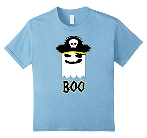 Kids Halloween T-shirt Scary Pirate Ghostface Boo Tee 4 Baby Blue (All Ghostface Costumes)