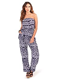 ladies jumpsuit playsuit all in one strapless summer