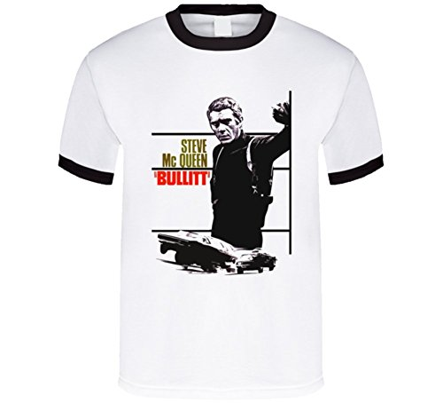 T-Shirt Bandit Steve Mcqueen Bullitt Movie T Shirt XL Black - Steve Black Mcqueen