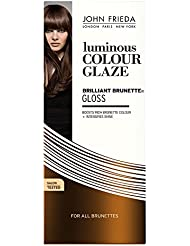 John Frieda U-HC-5396 Brilliant Brunette Liquid Shine Luminous Color Glaze for all Brunettes - 6.5 oz