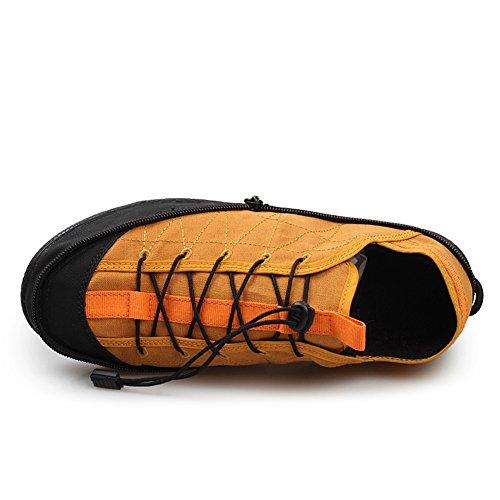 Gomnear Draagbare Zak Canvas Schoenen Vrouwen Mannen Antislip Comfortabel Comfortabel Opvouwbaar Buiten Reizen Snekers Geel