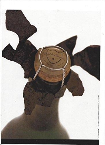 MAGAZINE AD For 1998 Dom Perignon Champagne Bottle Top & Cork Scene