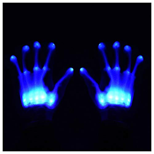 GlowCity Light Up LED Skeleton Hand Gloves Perfect