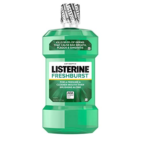 Listerine Freshburst Antiseptic Mouthwash with Germ-Killing Oral Care Formula to Fight Bad Breath, Plaque and Gingivitis, 1.5 L (pack of 6)