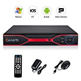 CANAVIS ❤️ 4CH 1080N Hybrid 5-in-1 AHD DVR (1080P NVR+1080N AHD+960H Analog+TVI+CVI) Standalone DVR CCTV Surveillance Security System Video Recorder No HDD,Cameras Not Included, Red Review