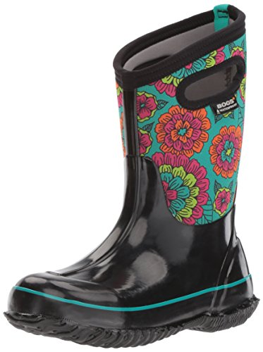 Bogs Baby Classic Pansies Snow Boot, Black/Multi, 8 M US Toddler by Bogs