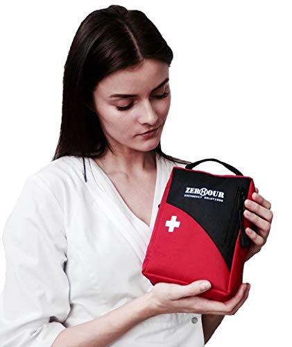 Camping First Aid Kit - Medical Kit for Survival, Car, Emergency, Hiking, Boat, Home. Small and Waterproof with Fire Starter, Tourniquet, Israeli Bandage. Safe Family Adventure