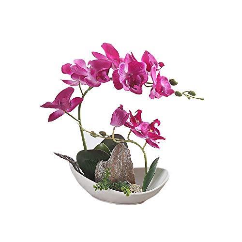 GXLMII Artificial Flowers Bonsai Lifelike Silk Orchid Arrangement Phalaenopsis Wedding Party Home Centerpiece Decor