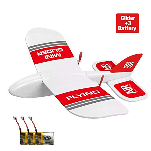 oftenrain RC Airplane, KF606 2.4Ghz 2CH EPP Mini Indoor RC Glider Airplane, Remote Control Airplane RTF RC Aircraft Plane, Built-in Gyro, Easy to Fly for Beginners, 10″ x 8.3″ x 3.2″, red & White