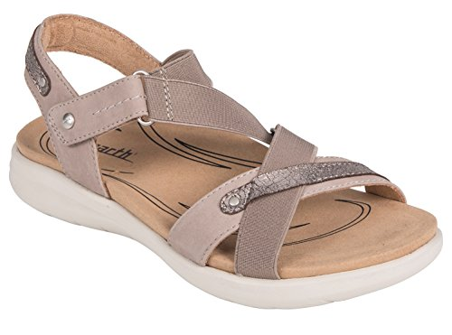 Earth Shoes Bali Taupe Soft Buck