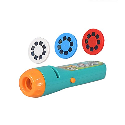 Spin and Learn Animals Flashlight, KXN Projector Toy Flashlight Baby Sleep Bedding Story Toy Educational Toy for Kids Toddler Boys and Girls