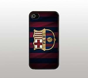FC Barcelona Futbol Snap-On Case for iPhone Apple 5 - Hard Plastic - Black - Cool Custom Cover - Soccer