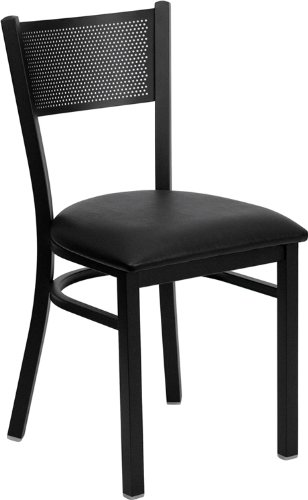 [Flash Furniture XU-DG-60115-GRD-BURV-GG Hercules Series Black Grid Back Metal Restaurant Chair with Burgundy Vinyl Seat] (Grd Series)