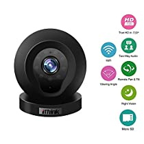 Ithink Q1 1280720P Home Security Surveillance 10.0MP All-glass Lens 110 Degree Smart Network Camera 32GB WiFi Remote Wireless IP Camera With Video Lock for Pet, Baby, Elderly Care Video Monitoring
