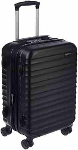 AmazonBasics Hardside Spinner Luggage - 20-Inch, Black