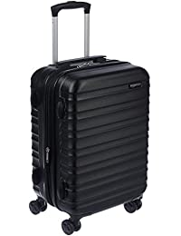 AmazonBasics Hardside Carry On Spinner Travel Luggage Suitcase - 20 Inch, Black