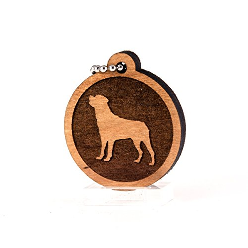 (Sunset Design Lab Rottweiler for AKC Dog Pet American Kennel Club Wood Laser Cut Keychain Charm Ornament)