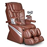 Cozzia EC366 Leather Shiatsu Spa Massage Chair - Brown