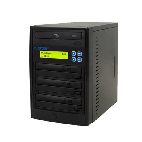 PlexCopier 24X SATA 1 to 3 CD DVD duplicator Writer Copier Tower (3 Target) by PlexCopier