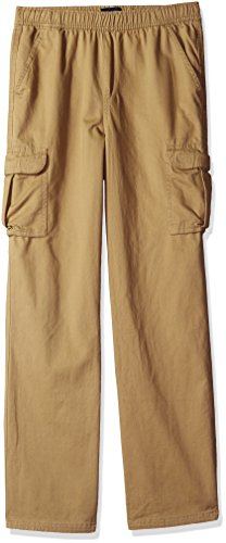 The Children's Place Big Boys' Pull on Cargo Pants, Flax 8354, 16 by The Children's Place