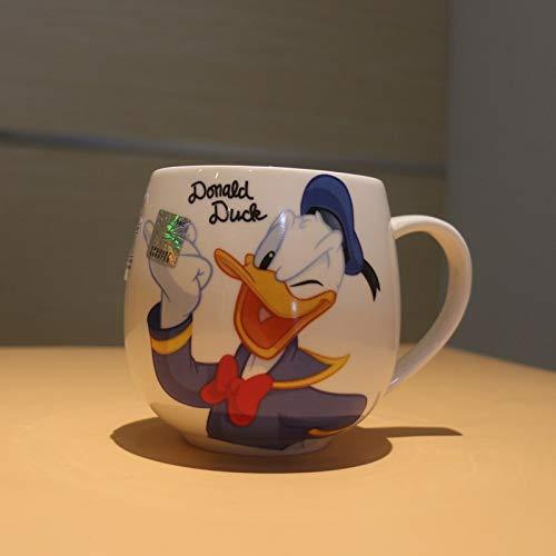 Best Quality - Mugs - Cartoon Mug Mickey Minnie Ceramic Cups Milk 320ml Creative Fashion Couples Mug Coffee Water Cup Cute Breakfast Cup Xmas Gift - by ROZA - 1 PCs ()