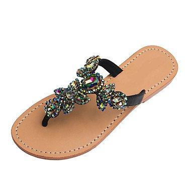 90ea191fb RainbowElk Women s Sandals Spring Summer Club Shoes PU Party   Evening  Dress Casual Flat Heel Rhinestone