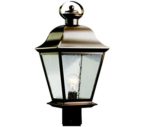 Kichler 9909OZ Mount Vernon Outdoor Post Mount 1-Light, Olde Bronze