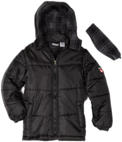 Airwalk Outerwear Big Boys' Solid Puffer Jacket With Polar Fleece Lining