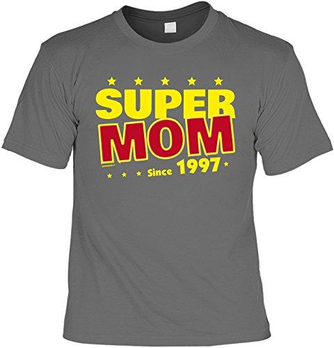 T-Shirt - Super Mom Since 1997 - lustiges Sprüche Shirt als Geschenk zum 20. Geburtstag