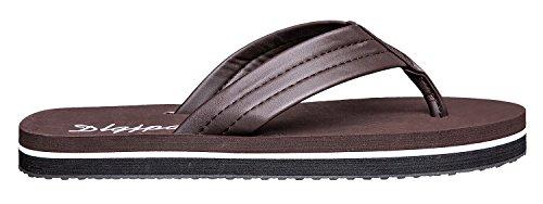 Dlgjpa Mens Flip Flops Lightweight Casual Sandals Slippers Brown QwL7QXU