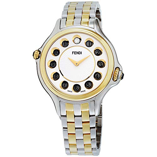 Fendi Stainless Steel Bracelet - Fendi Crazy Carats White Dial Stainless Steel Ladies Watch F107134000T06
