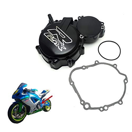 KEMiMOTO Engine Stator Cover for Suzuki 2007 GSXR600 GSX-R 750 GSXR 600 2006 to 2015 GSXR Logo Aluminum