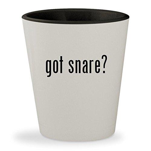got snare? - White Outer & Black Inner Ceramic 1.5oz Shot Glass
