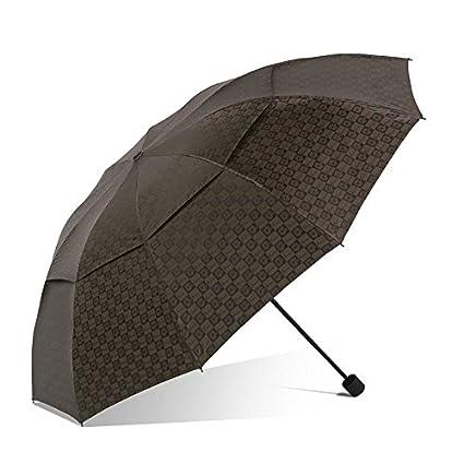 Paraguas plegable automatico Mujer niño Hombre an Doble Vinilo Protector Solar Negocio Enrejado Doble propósito