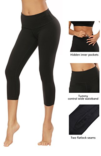 Fengbay Capris Leggings, Capris Yoga Pants Tummy Control Workout Running 4 Way Stretch High Waist Capris Workout Leggings by Fengbay (Image #2)
